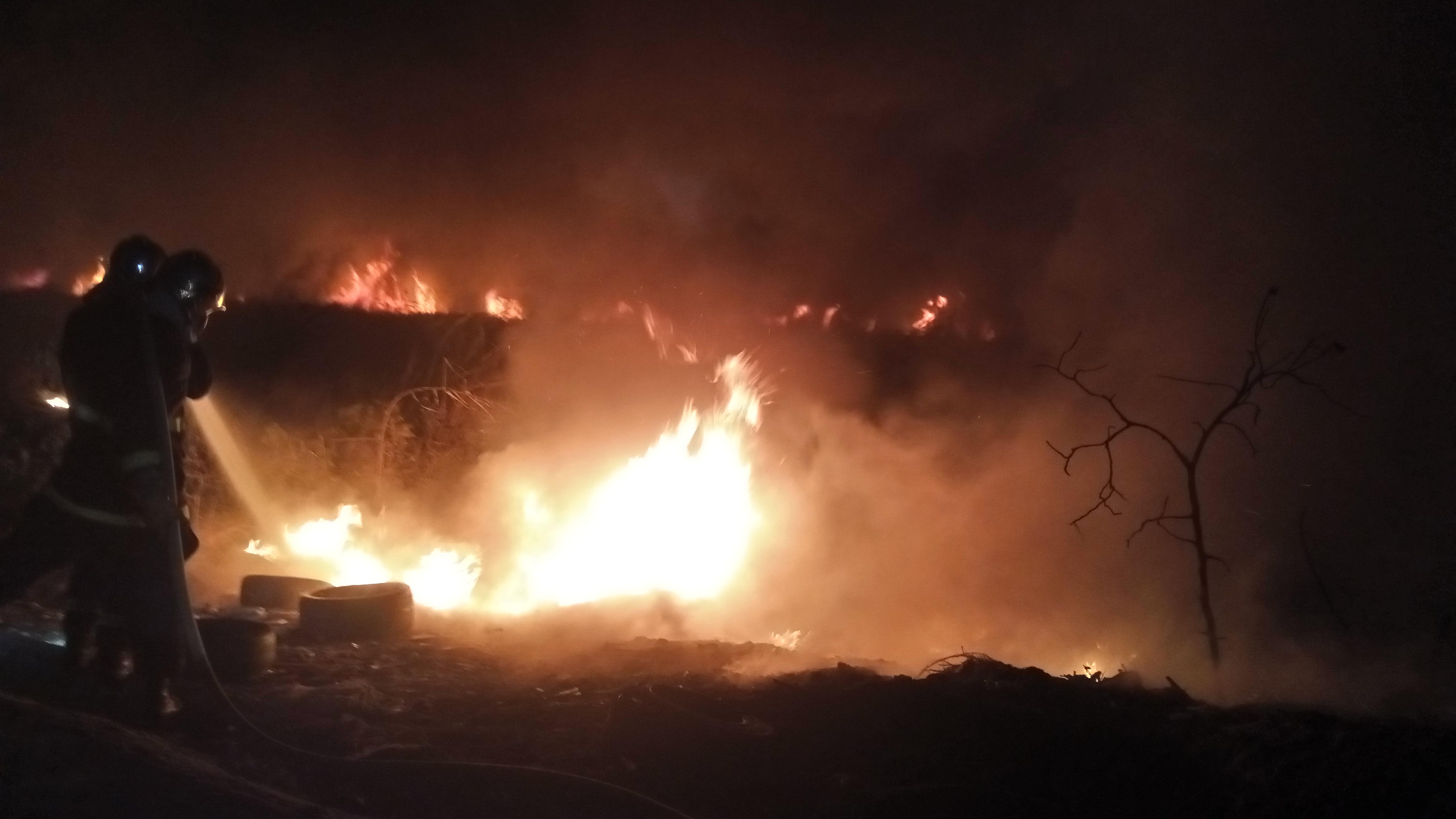 Urgent : Un violent incendie s'est déclaré à Pikine (Technopole)