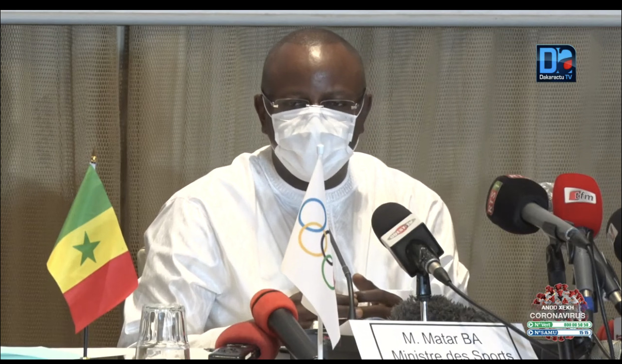Décès de Pape Bouba Diop : Matar Bâ présente ses condoléances au mouvement sportif national.