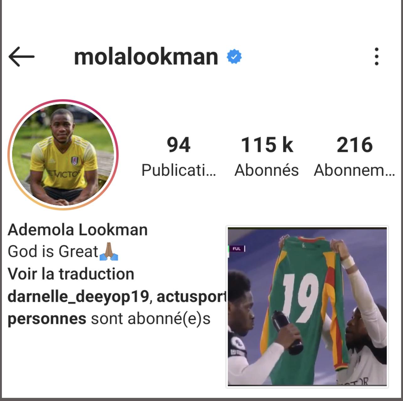 Hommage à Pape Bouba Diop : Le compte instagram de Lookman pris d'assaut par les internautes Sénégalais.