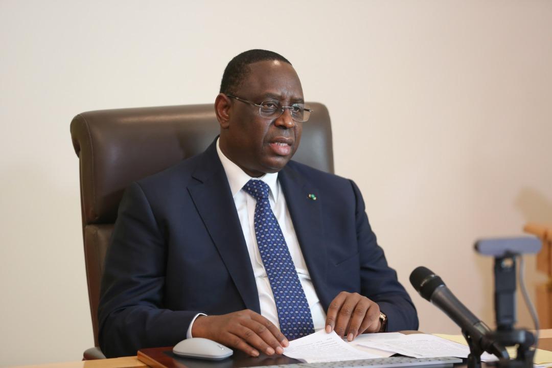 Recherche : entretien par visioconfèrence entre le Président Macky Sall et le Directeur National pour la santé des EU.