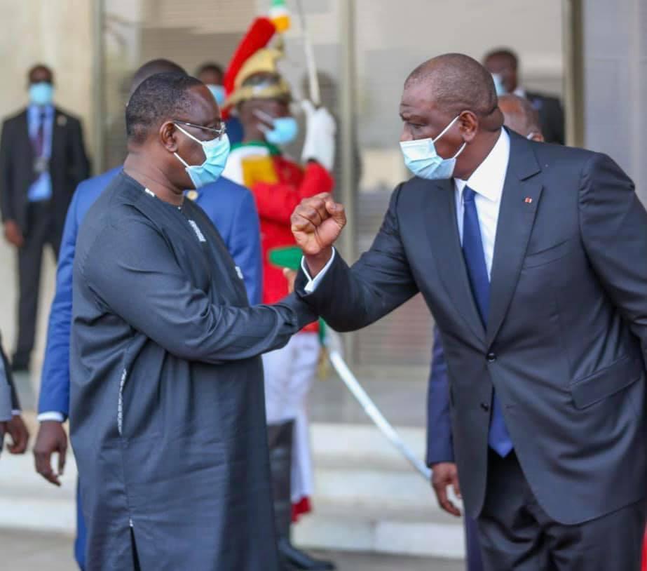 Investiture de Alassane Ouattara : Le président Macky Sall à Abidjan.