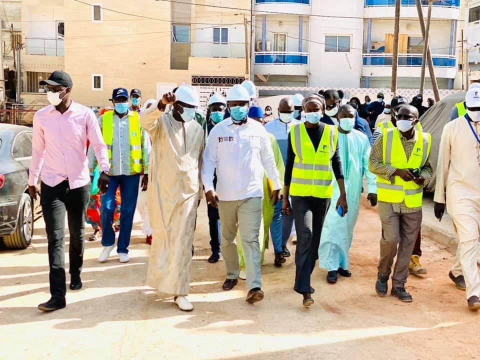 Commune de Yoff : Le ministre Samba Ndiobène Ka satisfait de l'état d'exécution des travaux d'infrastructures.