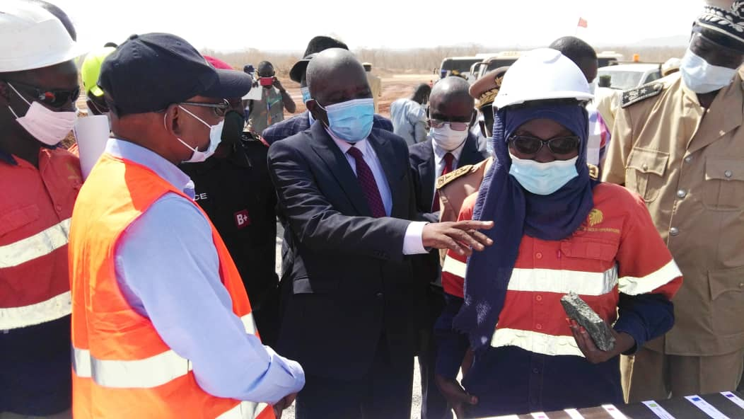 Kédougou/SGO : En images la visite du Ministre des Mines et de la Géologie à la mine d'or de Sabodala (Images)