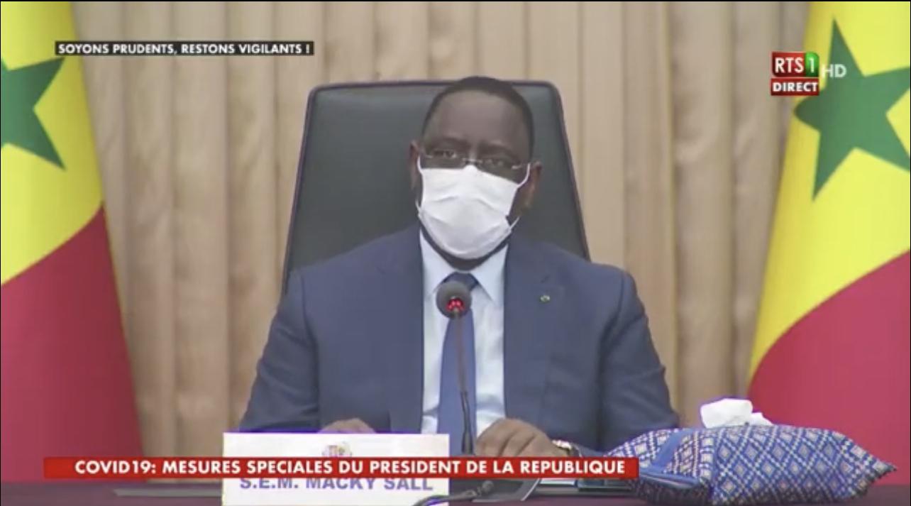 """Le message du président Macky Sall décrétant l'État d'urgence : """" «L'heure est grave! J'en appelle à la mobilisation générale dans un élan solidaire...»"""