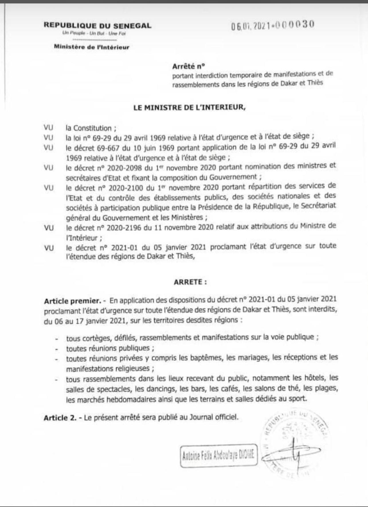 État d'urgence et couvre-feu : Le ministre de l'intérieur corse les mesures (DOCUMENT).