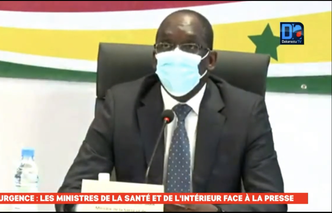 Couvre-feu à Thiès et Dakar : Le ministre de la Santé n'exclut pas d'élargir la mesure à d'autres localités.