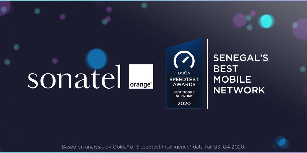 OOKLA AWARDS : Orange confirmé meilleur réseau mobile remporte deux distinctions.