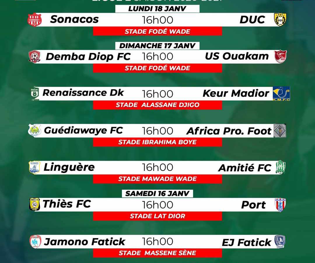 Ligue 2 - Le programme de la 3e journée : Le derby Fatickois à l'affiche, Keur Madior en route vers la passe de « 3 »…