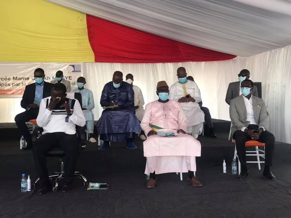 Tambacounda / Réhabilitation du lycée MCM :  Mamadou Talla félicite la SONATEL et l'invite à accompagner CANAL ÉDUCATION.