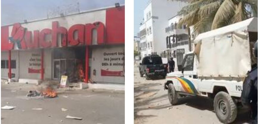 Manifestations des partisans de Sonko : la maison de Mahmoud Saleh et « Auchan » Sacré Cœur vandalisés