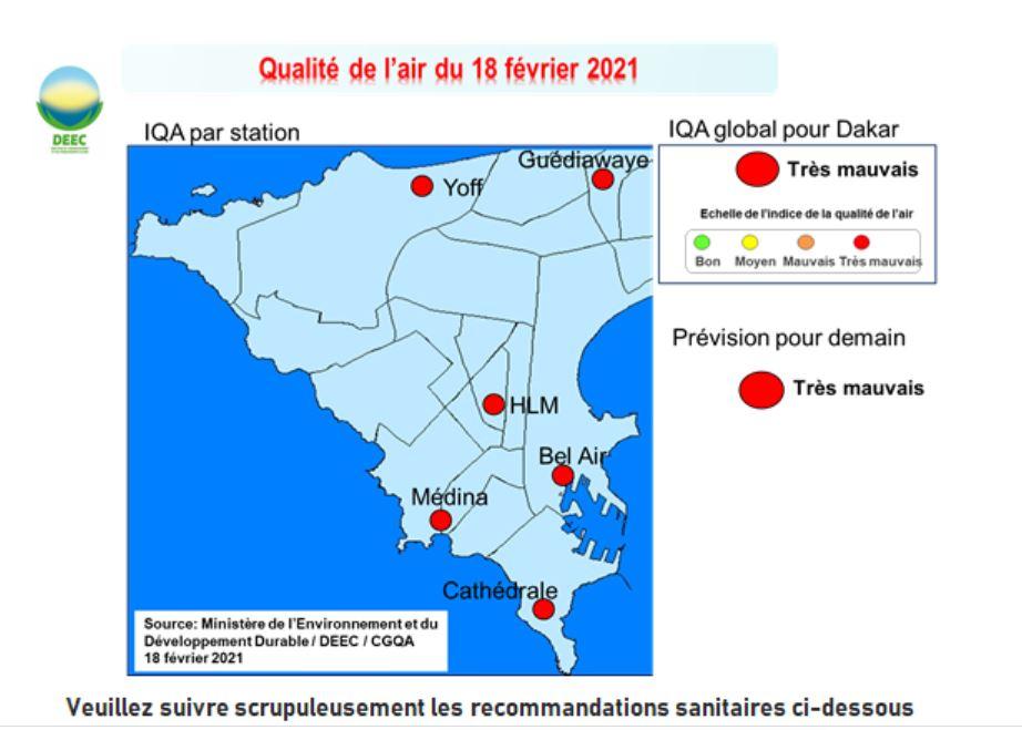 Mauvaise qualité de l'air : L'amélioration est attendue à partir du 21 février 2021