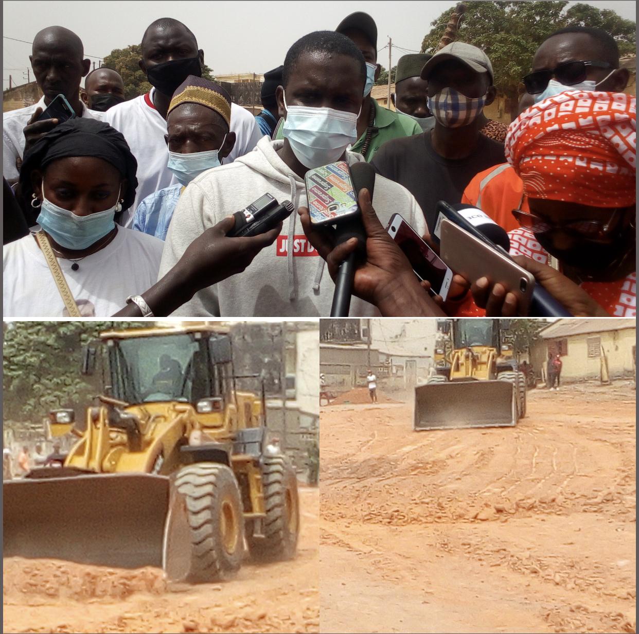 KOLDA / Abdourahmane Baldé Doura (mouvement Kolda debout) : « Nous visons les populations et non des personnes... Une dizaine de kilomètres remblayées dans la commune… »