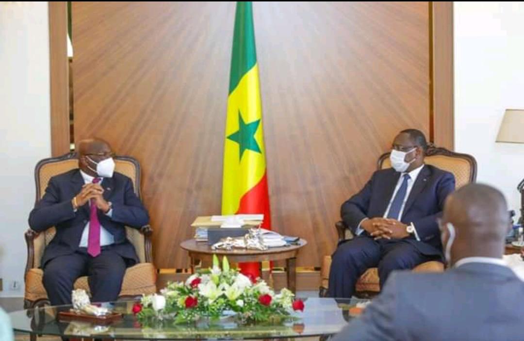 Élections Présidence CAF : Le candidat ivoirien, Jacques Anouma s'est entretenu avec le président Macky Sall.