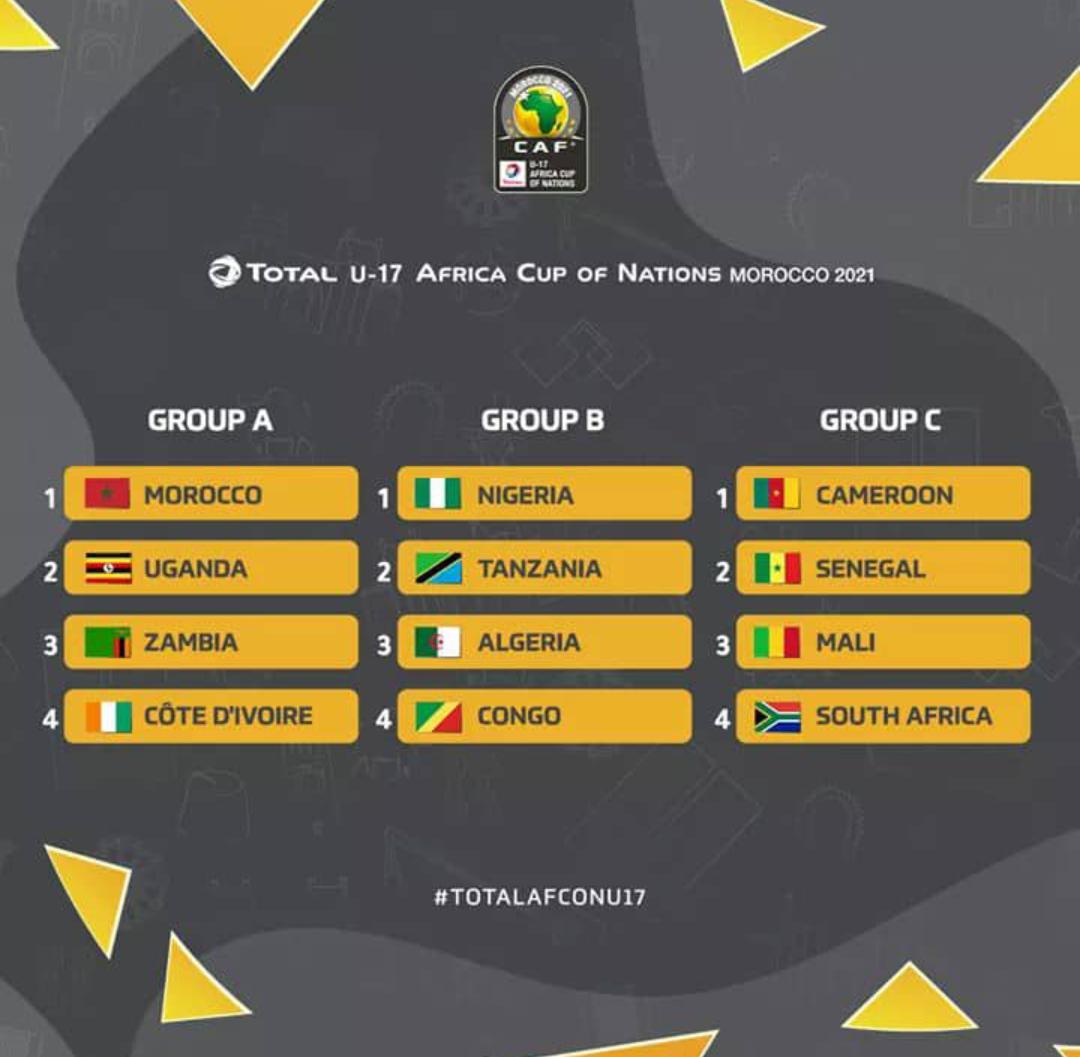 CAN U17 : Les Lionceaux dans la poule C en compagnie du Mali, du Cameroun et de l'Afrique du Sud.