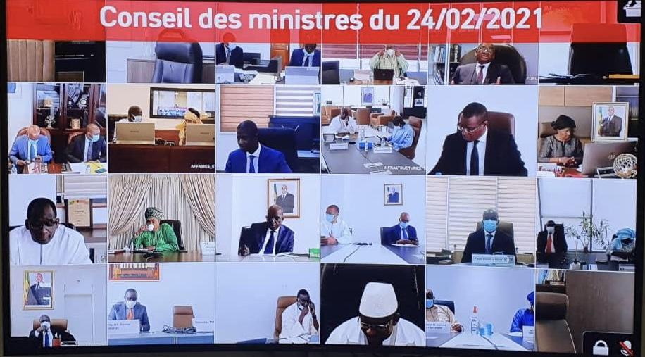 Communiqué du conseil des ministres du Mercredi 24 Février 2021.