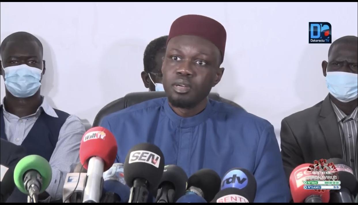 Affaire «Sweet Beauté» / Couvre-feu, état d'urgence, bombardements dans une partie du pays : des éléments du «complot», selon Ousmane Sonko.