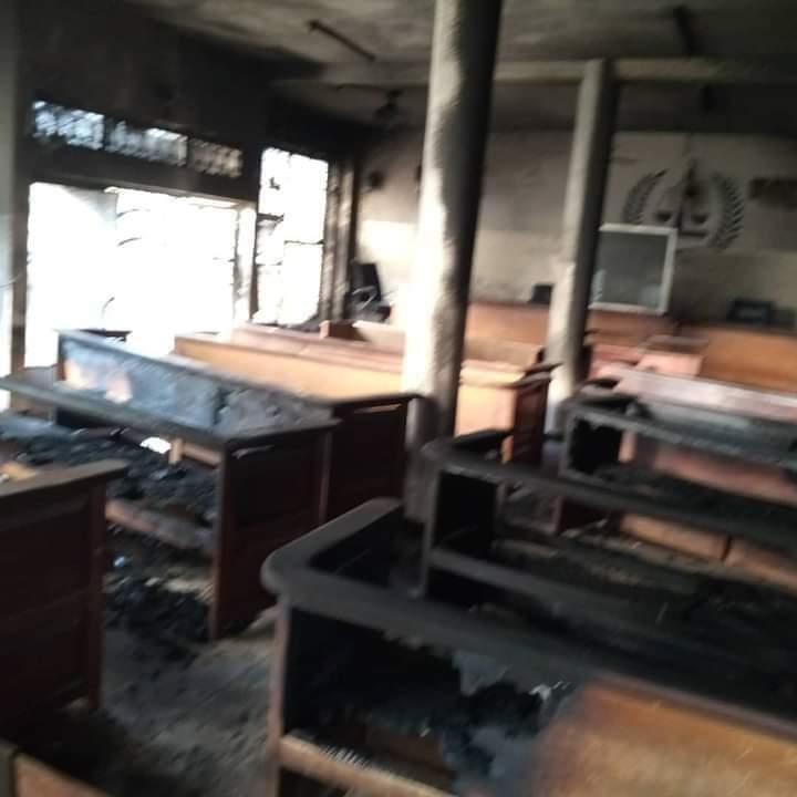 TRIBUNAL DE DIOURBEL : La salle d'audience brûlée dans la nuit.