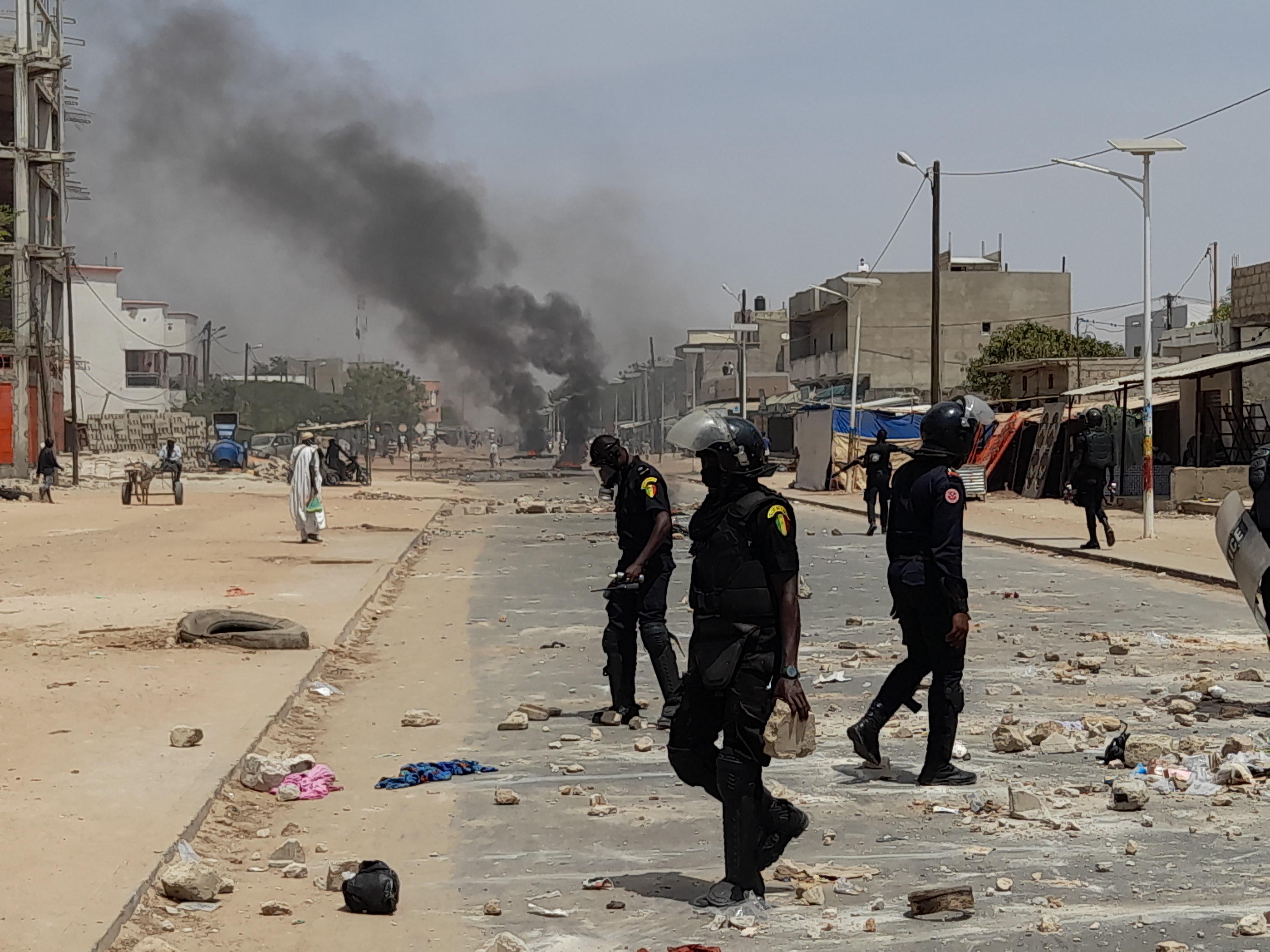 Kaolack : Les rues complètement vandalisées. (Images)