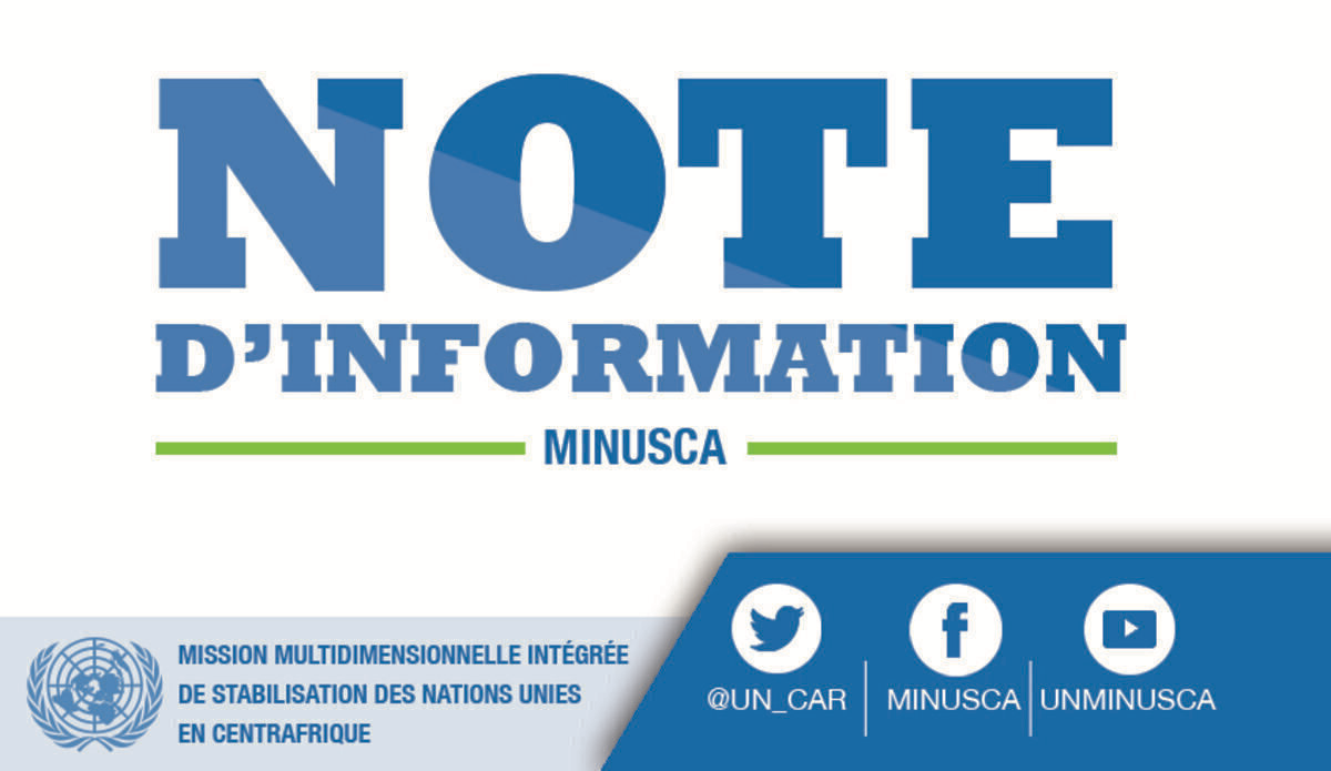 Centrafrique : 2.860 ex-combattants des groupes armés désarmés et démobilisés depuis 2018 avec l'appui de la Minusca.