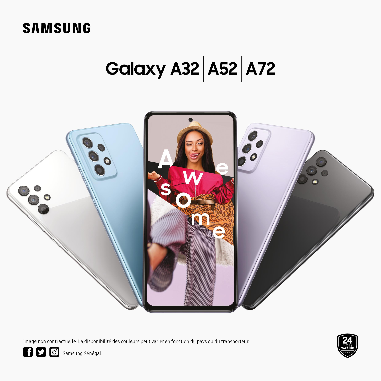 Communique : les Galaxy A52 et A72 rendent l'innovation accessible à tous