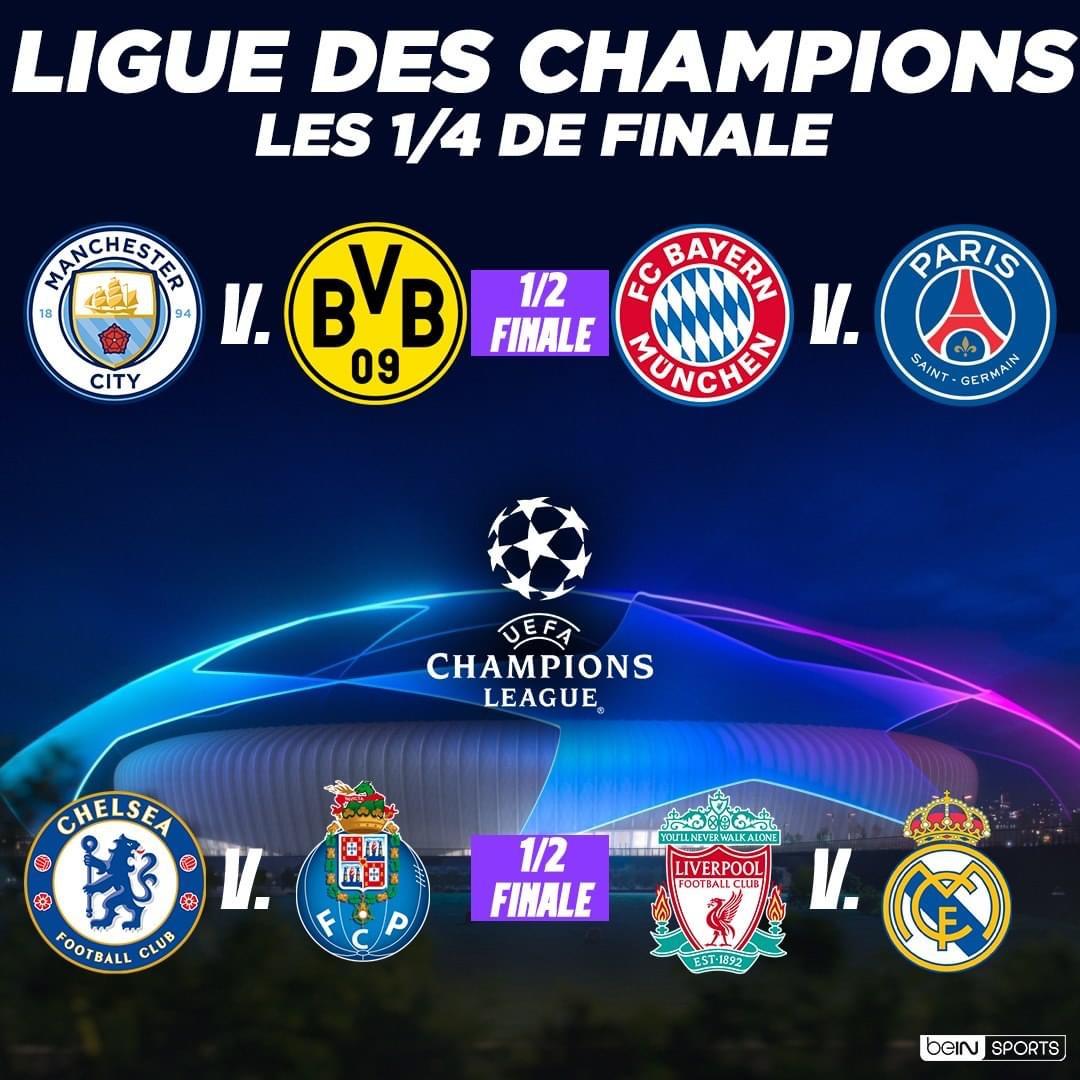 Tirage quarts de finales Ligue des champions : Le PSG de Gana Guèye tombe sur le Bayern Munich, Liverpool de Sadio Mané face au Real Madrid…