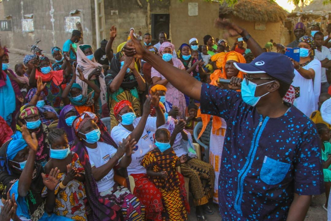 """(PHOTOS) Mamadou Kassé fait vibrer Tambacounda et rassure : """"Le Président fera confiance aux jeunes"""""""