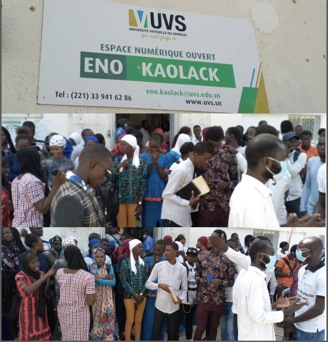 Kaolack : Les étudiants de l'Uvs dénoncent les couacs au niveau de leur administration.