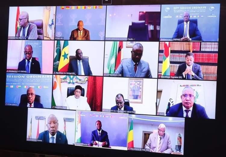 UEMOA : la situation de la covid-19 et l'état de l'Union en 2020 au menu de la session ordinaire de la conférence des chefs d'État et de gouvernement