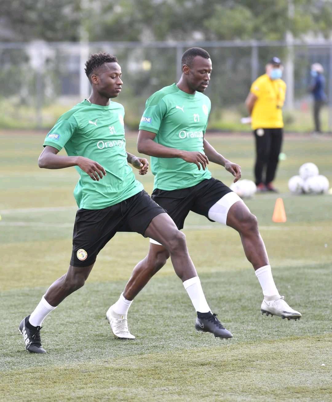 Éliminatoires CAN 2022 : Deuxième galop d'entrainement des Lions à Brazzaville, le groupe au complet… (Photos)