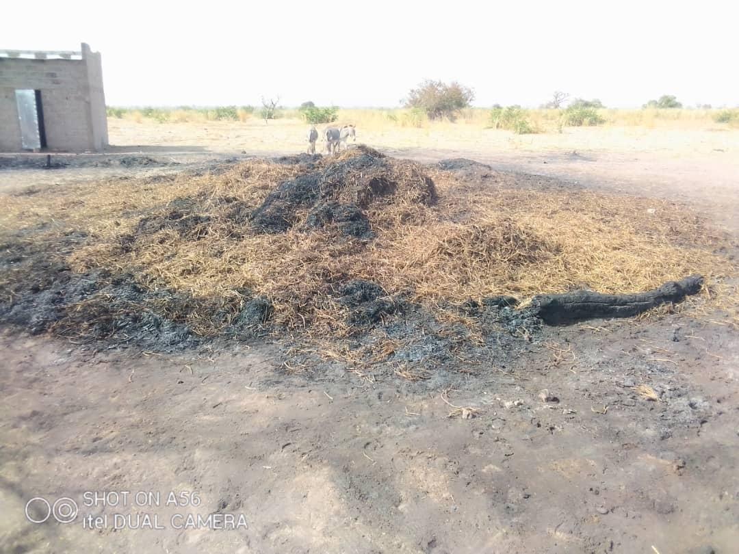 Koungheul : Un incendie ravage vivres, semences, concessions etc... à Thiépou (commune de Guinth Pathé).