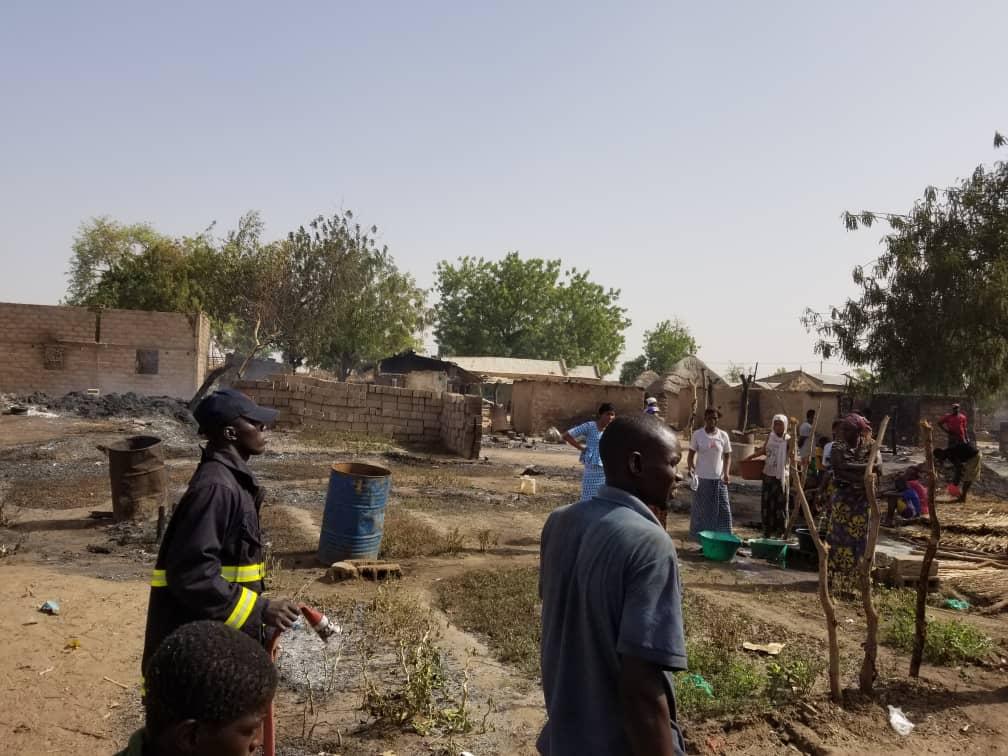 Koumpentoum : Un violent incendie détruit une partie du village de Douba.