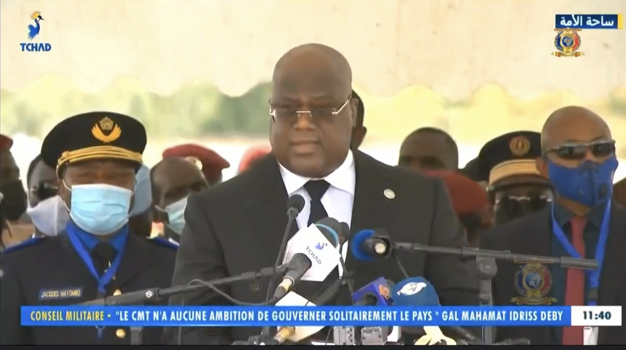 Félix Tshisekedi au peuple Tchadien : « Soyez assuré de l'accompagnement de l'Union africaine dans cette transition que nous souhaitons pacifique »