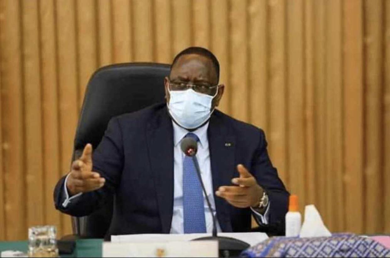 COVID-19 : Le président Macky Sall appelle à la sensibilisation sur le respect des gestes barrières.
