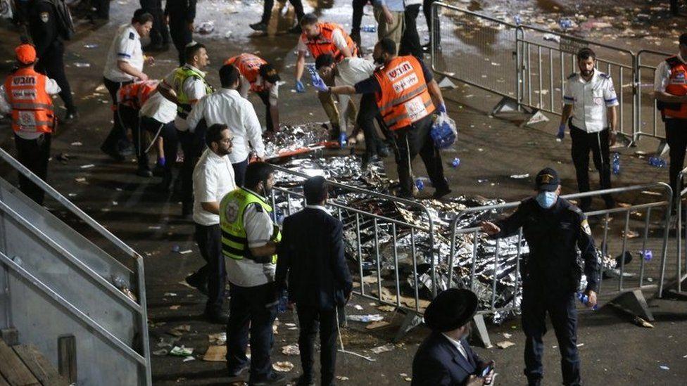 """Au moins 44 morts dans un pèlerinage juif en Israël après une """"bousculade géante"""""""