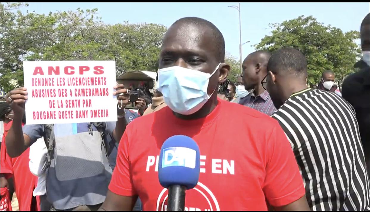 Sit-In de la Presse : Ibrahima Lissa Faye plaide pour l'application les textes garantissant la sécurité des journalistes.