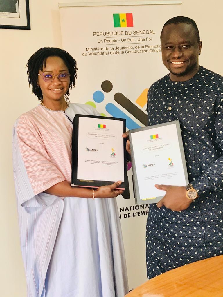 Signature d'un avenant à la convention cadre de partenariat entre le Fonds (3FPT) et l'Agence Nationale Pour la Promotion de l'Emploi des Jeunes (ANPEJ)