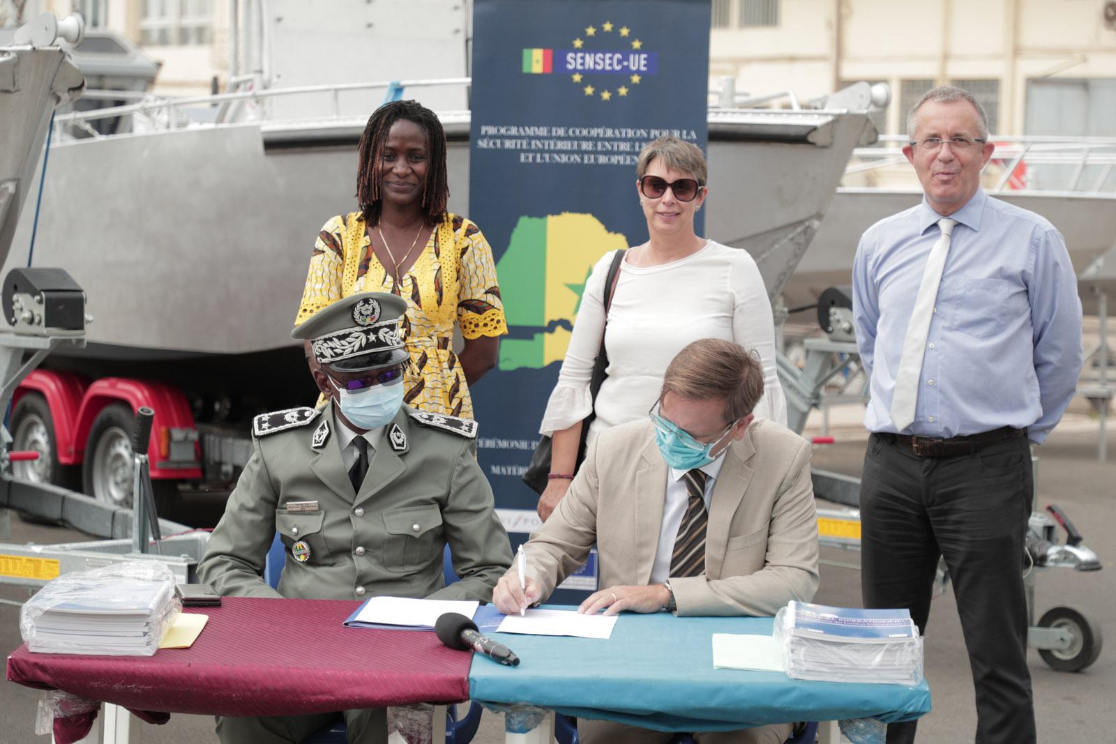 Renforcement de la sécurité intérieure :  Le Sénégal réceptionne 4 embarcations pour les détachements mixtes fluvio-maritimes de Bétenti et Djinak Bara.