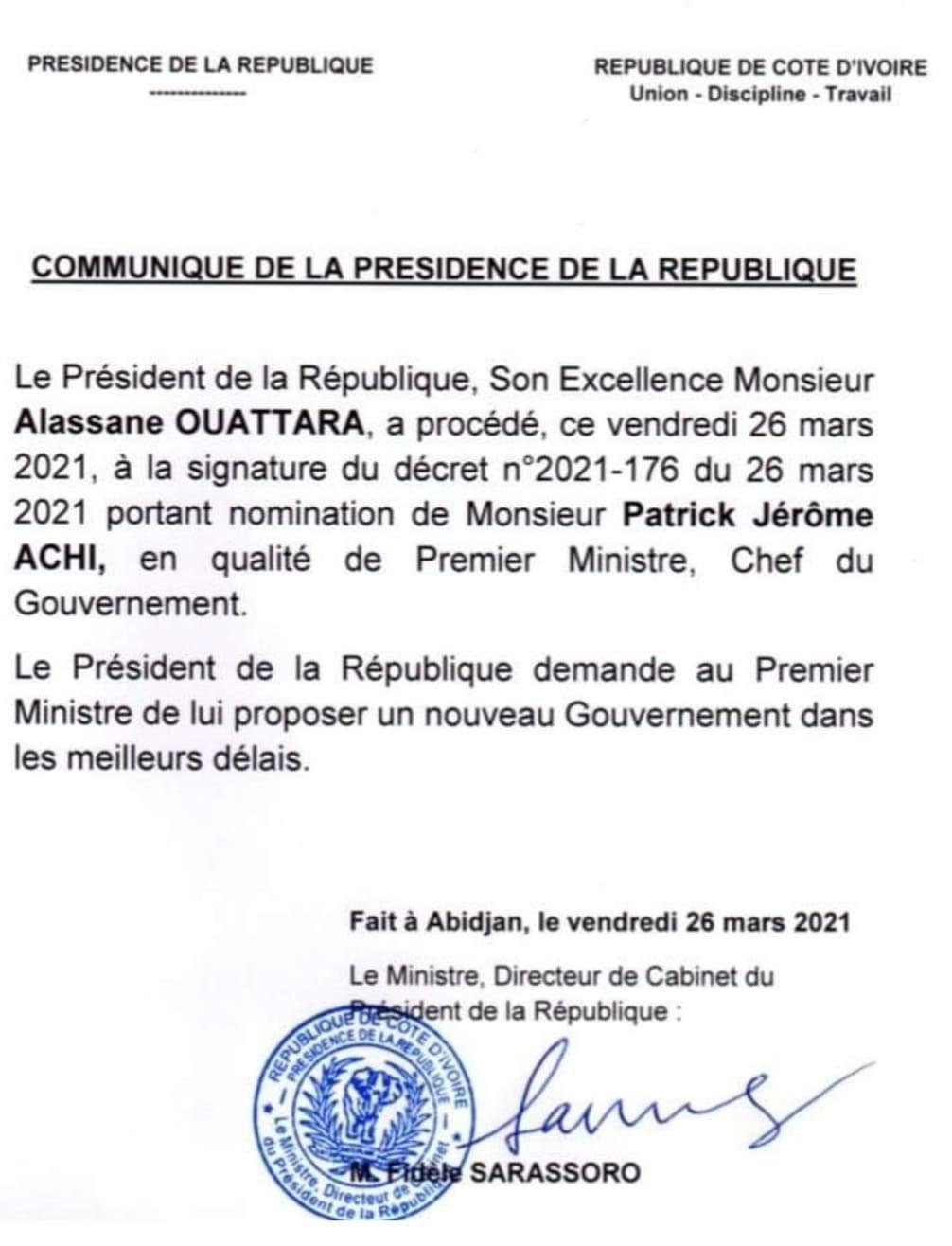 Après un séjour médical à Paris : Achi est rentré en Côte d'Ivoire