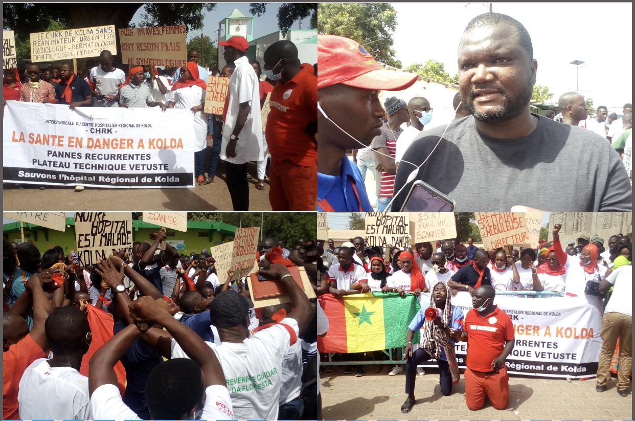 KOLDA : marche d'exaspération des travailleurs de l'hôpital régional, de la population et de la société civile.