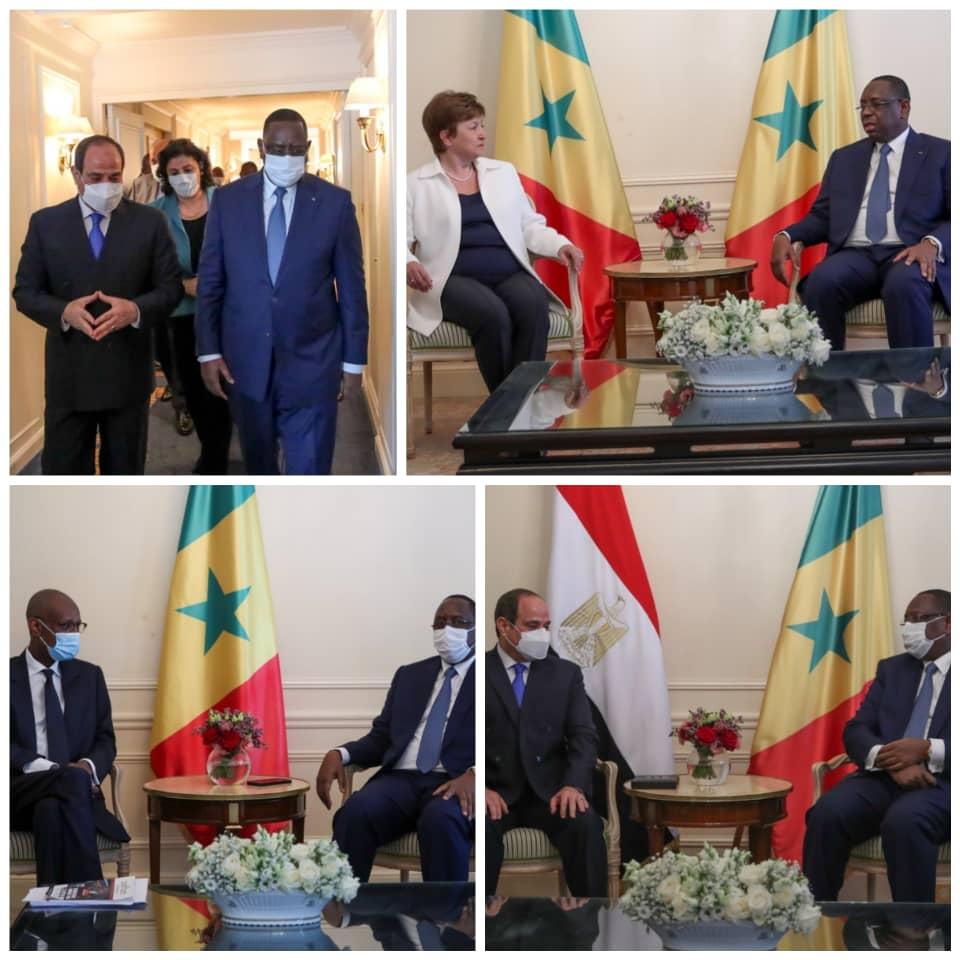 Sommet sur le financement des économies africaines : Macky Sall reçoit le Président égyptien, la Directrice du FMI et Makhtar Diop de la BM, en audience