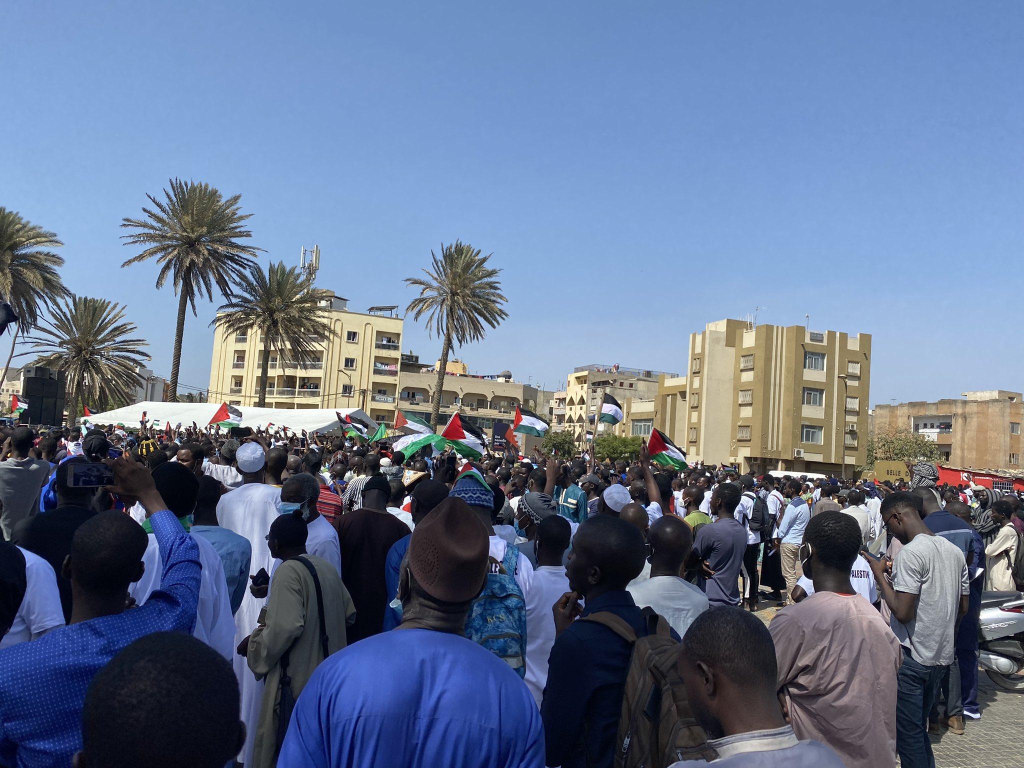 Mobilisation pour la cause palestinienne: des milliers de sénégalais ont répondu à l'appel.
