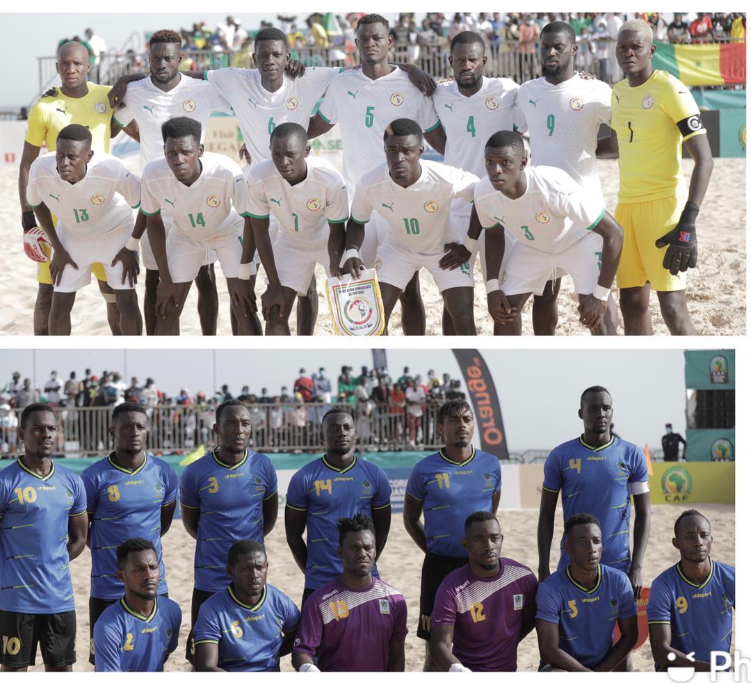 CAN Beach Soccer : Le Sénégal sort la Tanzanie (3-1) et attend le Maroc en demi-finale.