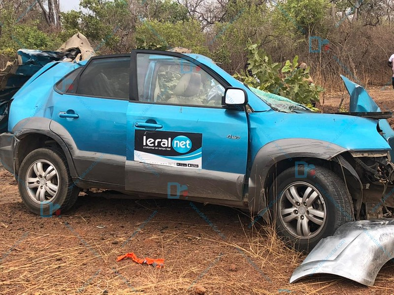 Tournée économique du Chef de l'Etat/ les reporters de Leral victimes d'un accident (3 morts et 2 blessés graves) IMAGES.