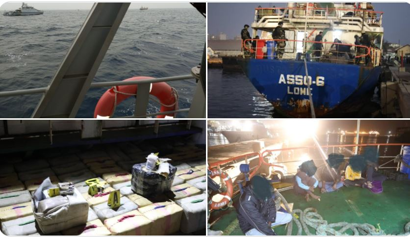 Trafic de drogue : l'armée intercepte un navire transportant du haschich