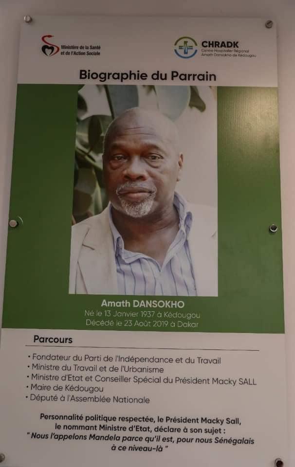 Hôpital régional de Kédougou : le PIT remercie le Président de la République pour avoir fait d'Amath Dansokho, le parrain.