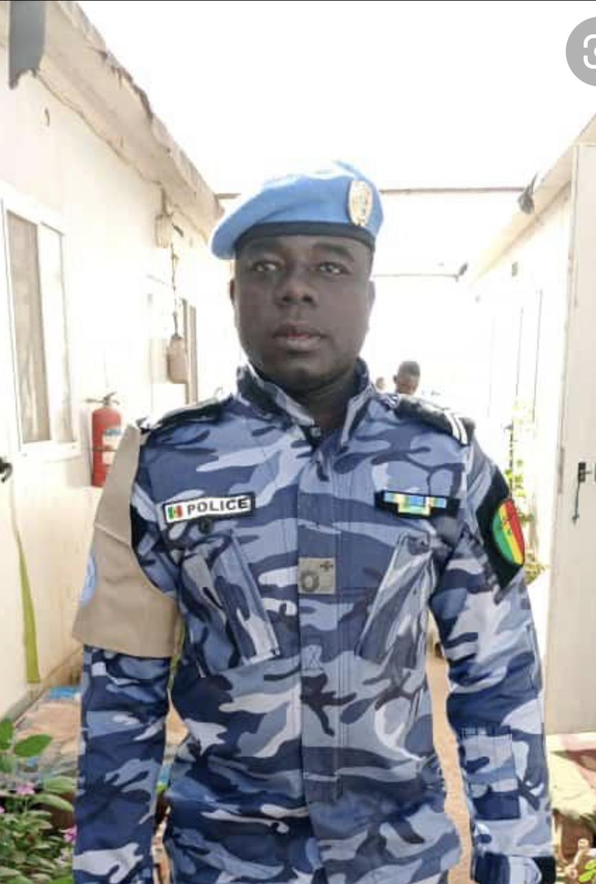Mali : l'hommage de la Minusma au policier sénégalais Saboura Mbengue décédé des suites d'une maladie.