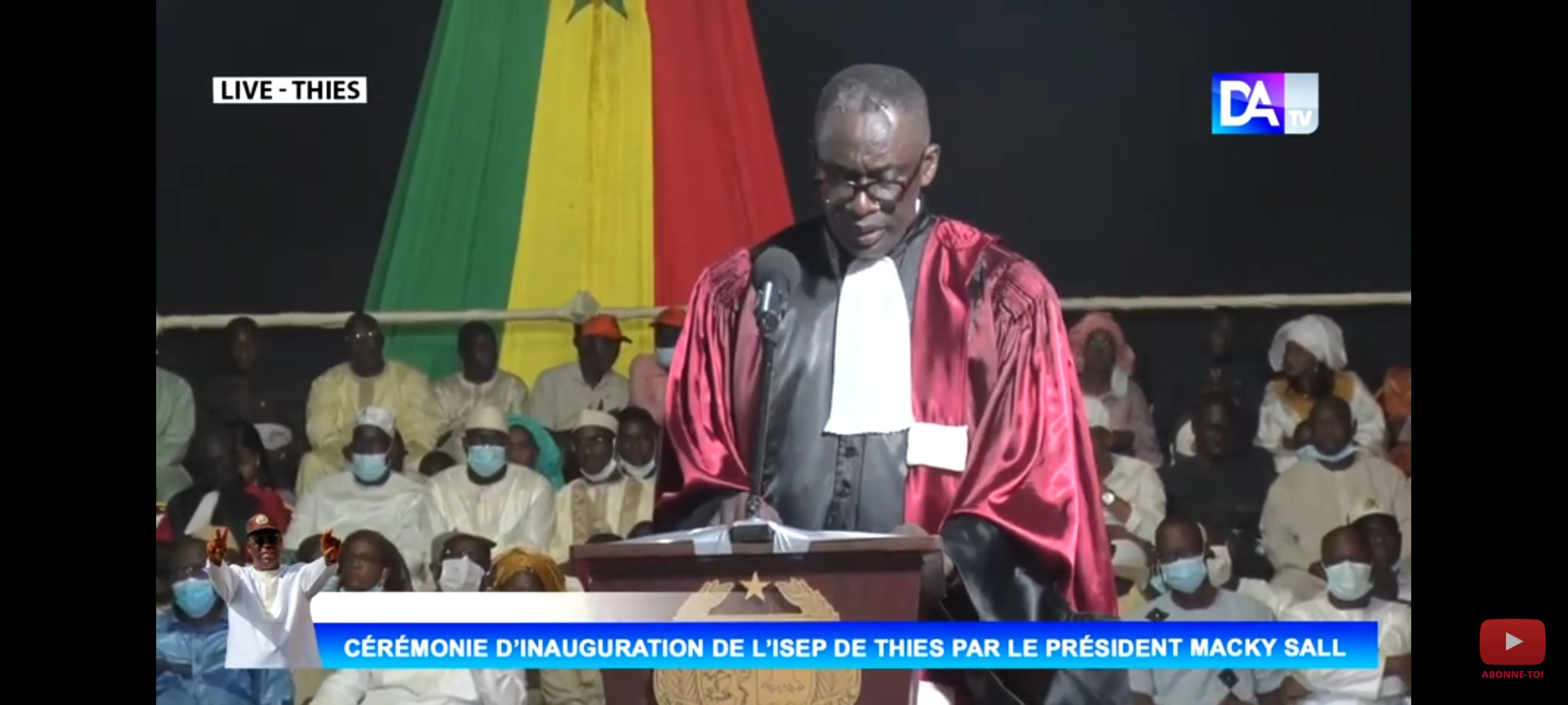"""Inauguration ISEP - Thiès : """"86% des bacheliers de la série littéraire y sont enrôlés"""" (Mouhamed Fadel Niang, Directeur)"""