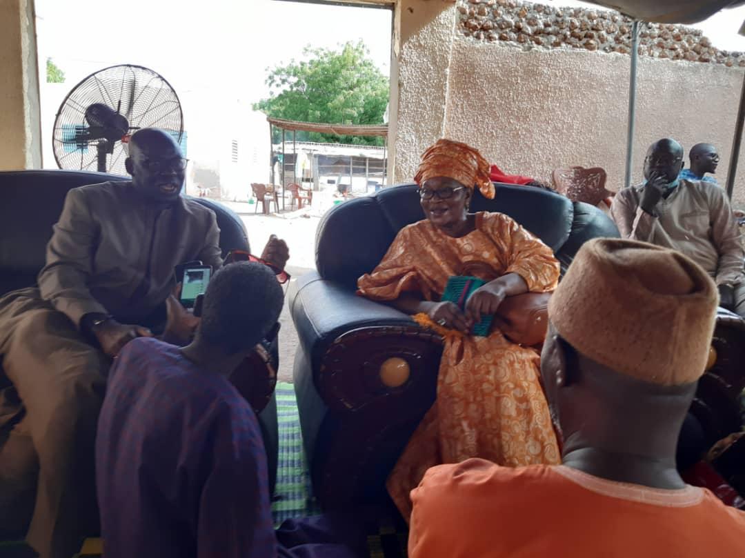 Bambey : Mbaye Dione pour présenter ses condoléances à Aïda Mbodj au nom du SG de l'AFP