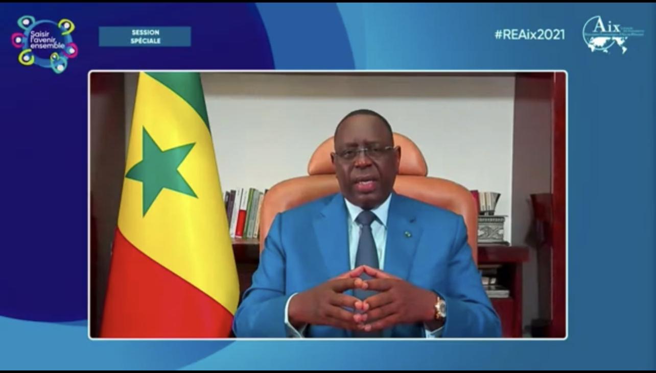 Le président Macky Sall aux REAix 2021 : « Qu'on arrête toujours de considérer l'Afrique comme un bébé (…), il faut que les partenaires  changent de paradigme dans la manière de traiter avec l'Afrique »