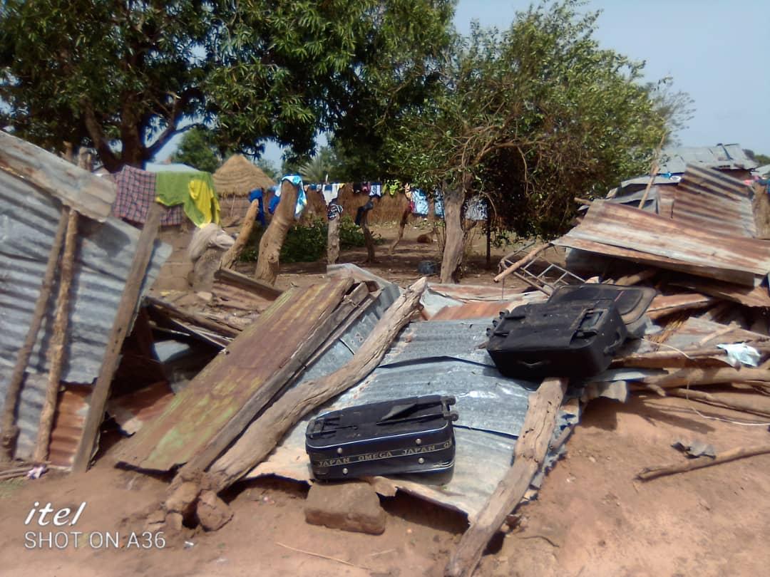 Wack Ngouna : Un vent violent cause beaucoup de dégâts à Darou Salam Mouride (Images)